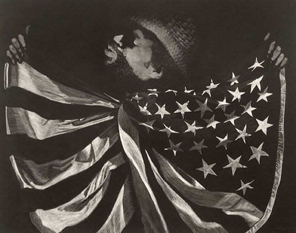 Untitled (Man with Flag)