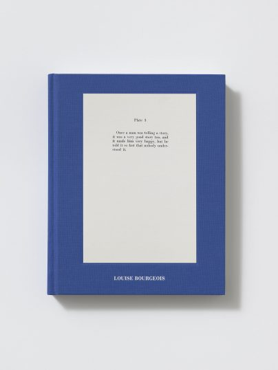 The cover of a blue book that says